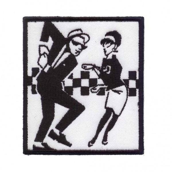 Tanzendes Ska Pärchen Patch