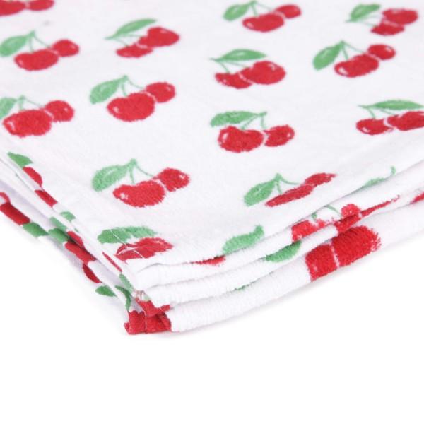 Frottee Handtuch aus Baumwolle mit All Over Kirschen Print Aufdruck