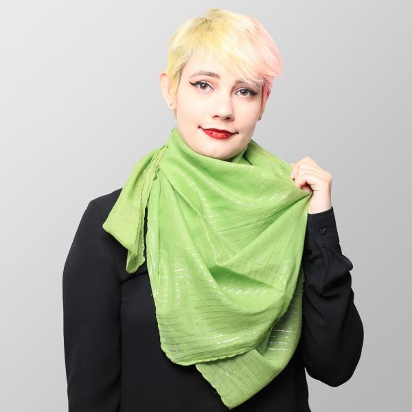 Apfel Grünes Uni Lurex Halstuch