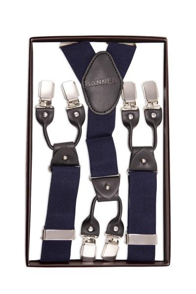 Blauer Hosenträger mit Verstellbaren Riemen und Knopf Ersatz