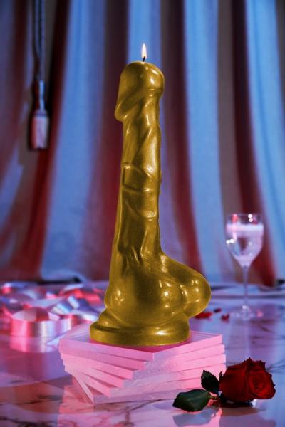 Penis Kerze Gold ( 36 cm )