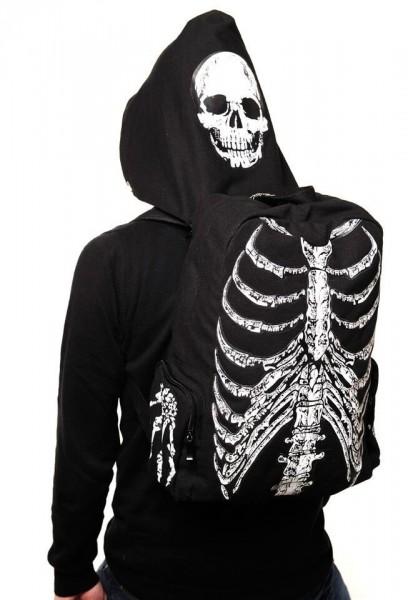 Cosplay Horror Rucksack im Skelett und Knochen Design Aufdruck