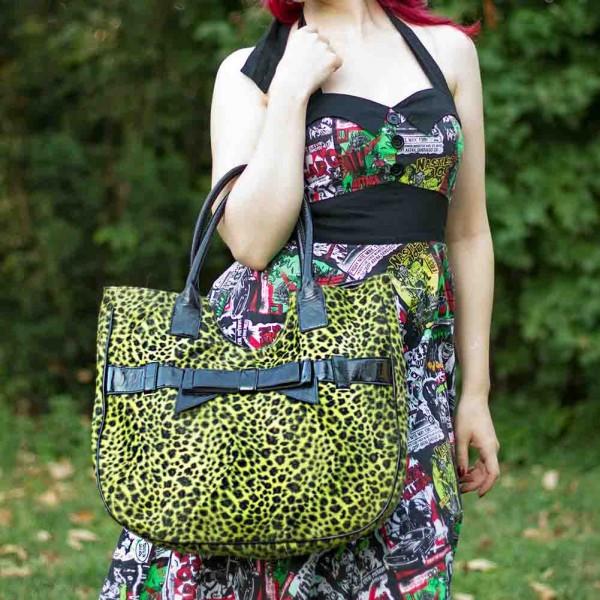 Leoparden Fell Girly Handtasche