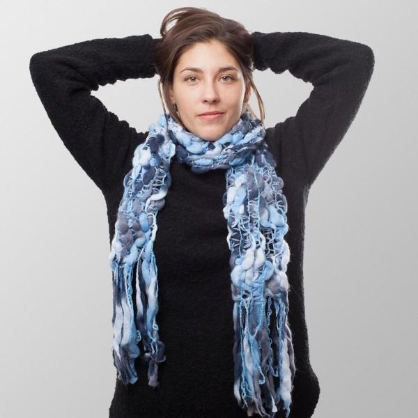 Eis Blau Damen Struktur Winterschal
