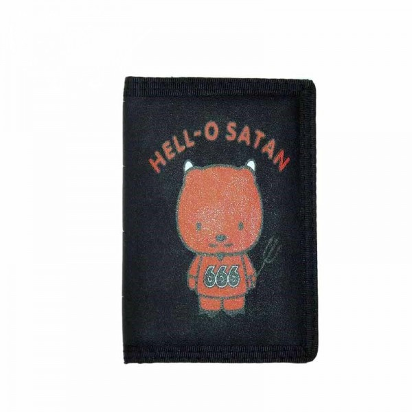 Geldbörse mit Hello-O-Satan Aufruck und Kette