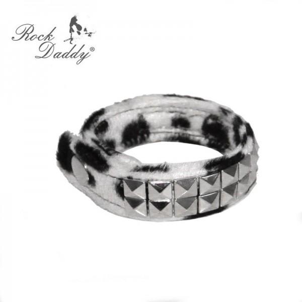 Fashion Armband Schwarz Weiß mit Pyramiden