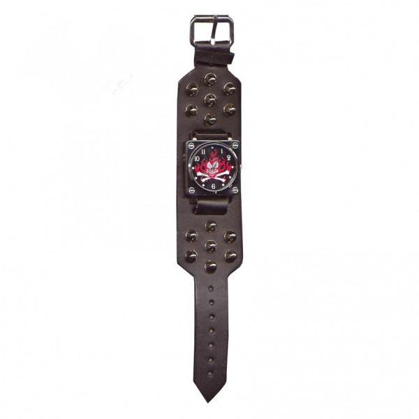 Joker Skull Nieten Armbanduhr