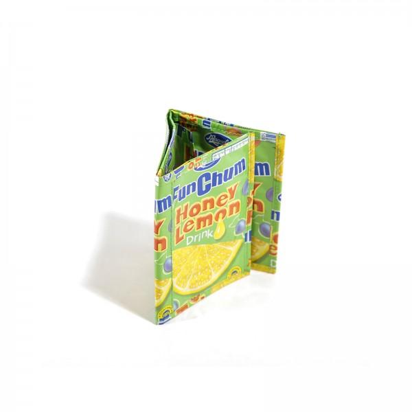 Honey Lemon Saft Drink Recycling Geldbörse