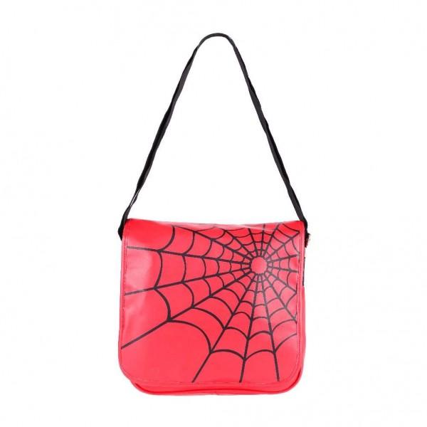 Schwarzes Spinnennetz Messenger Tasche
