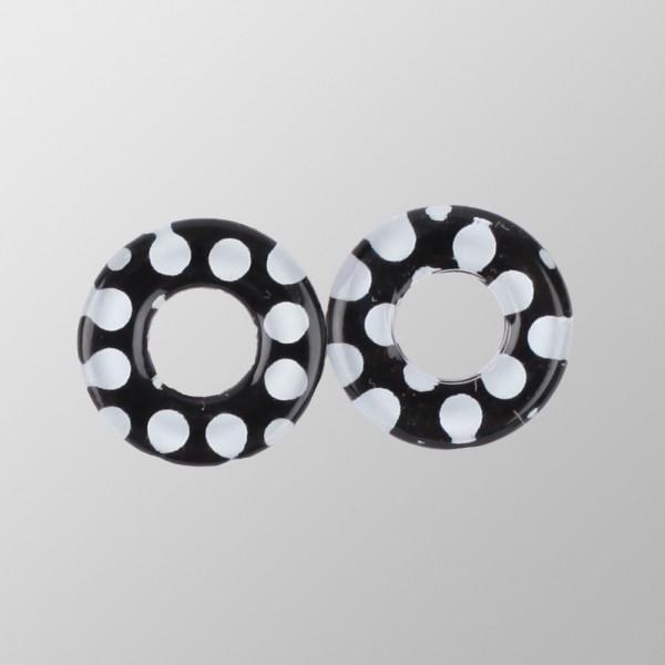 Rockabilly ringförmige Ohrringe mit Tupfen