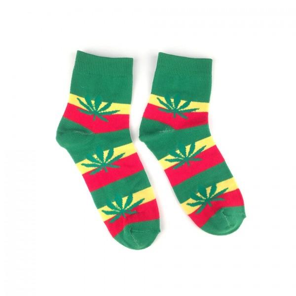 Multicolor Marihuana Rasta Blatt Socken one size