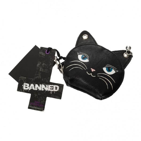 Banned Kitty Cat Münzgeldbörse