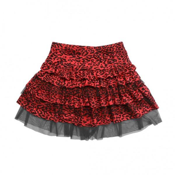 Little Diamond New York Mädchen Tüll Rock Leopard in Rot