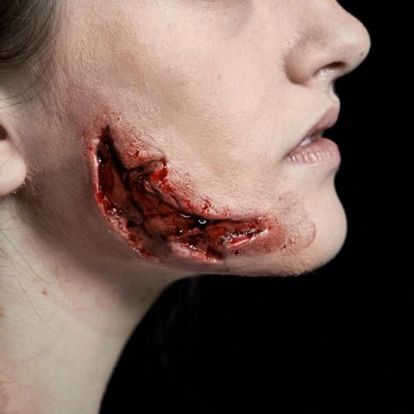 Halloween Klaffende Zombie Wunde