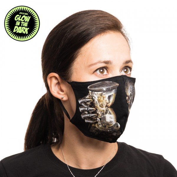 The Time is over Skull Glow in the Dark Stoffmaske