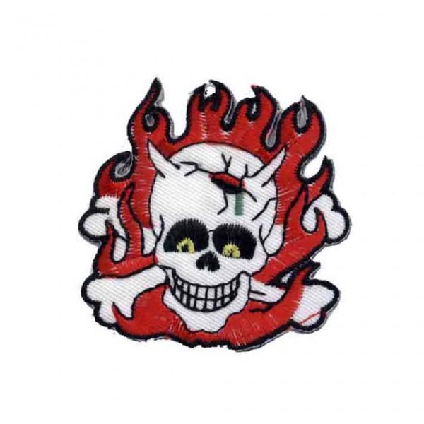 Flammen Skull Patch