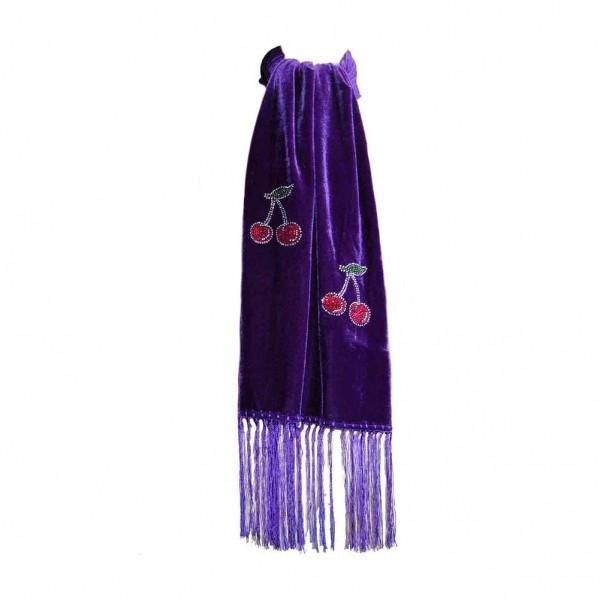Samt Rockabilly Kirschen Schal