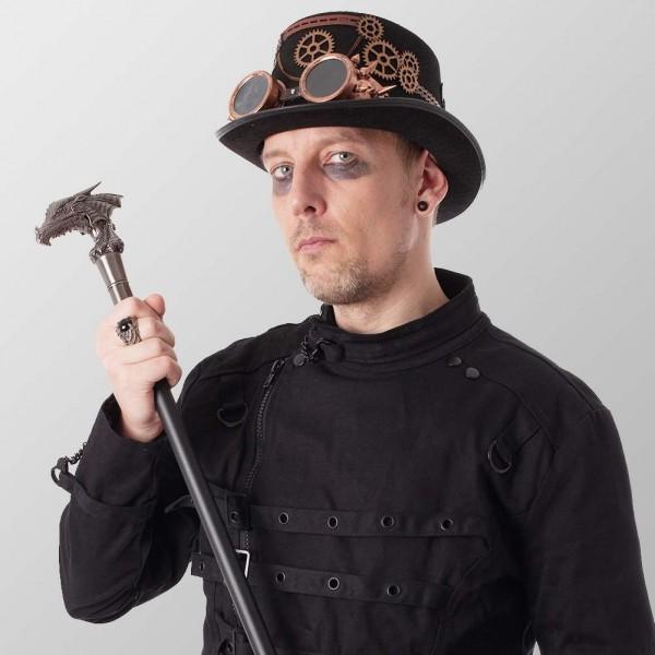 Drachen Gehstock Steampunk Pirat