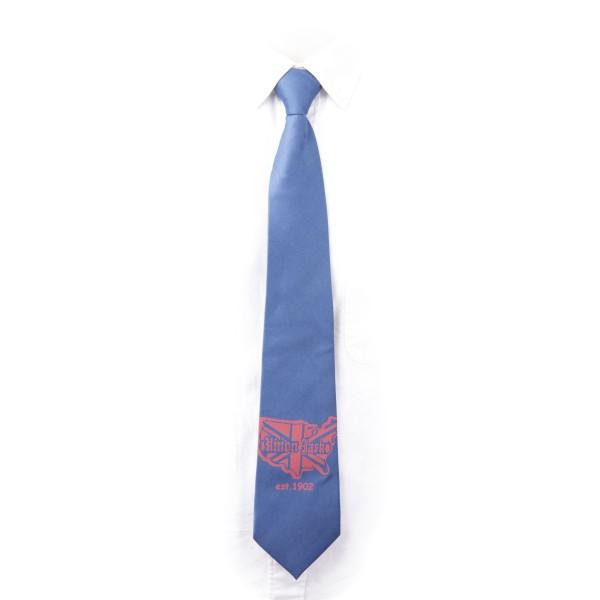 Blaue Krawatte mit Union Jack Karten Aufdruck
