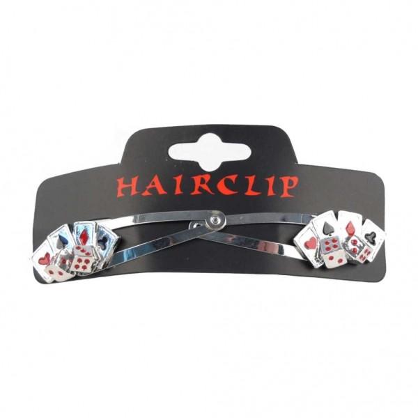 Haarclip Poker Karten und Würfel