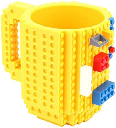 Brick Baustein Kunststoffbecher ca. 355ml Gelb