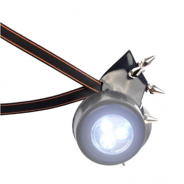 Gasmaske mit Spikes und LED Licht