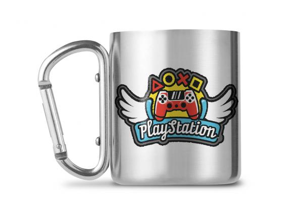 Playstation Wings Controller Carabiner Metall Tasse Mug