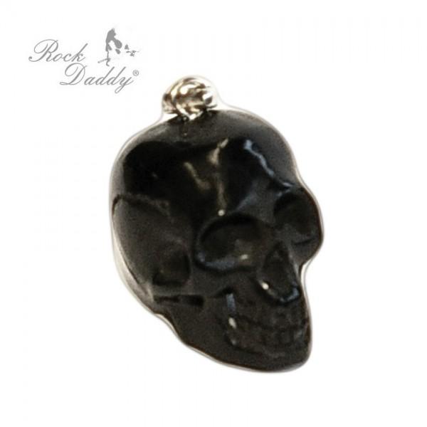 Natur Knochen Skull Schädel Anhänger in Schwarz