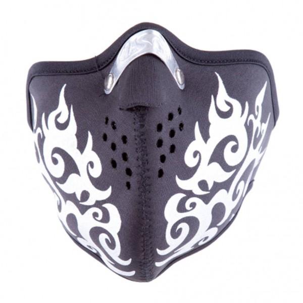 Biker Tribal Maske mit Aufdruck aus hochwertigem Neopren