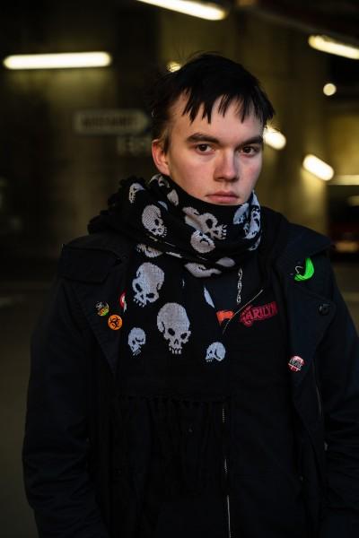 Streetwear Unisex Skull Schädel Winterschal