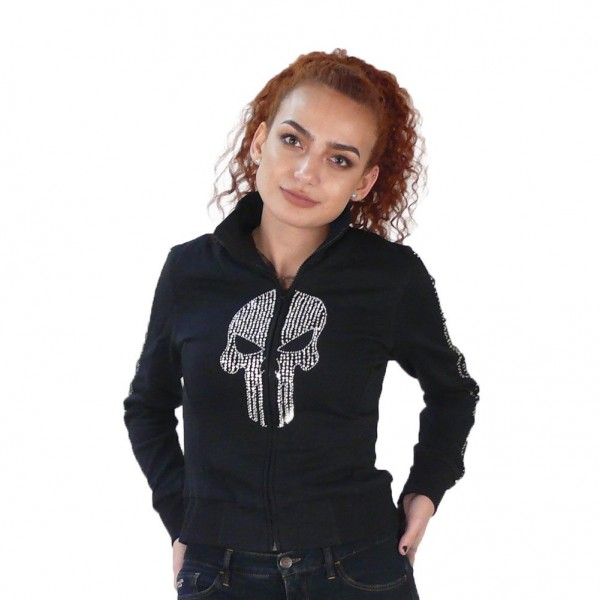 Punisher Totenkopf Mädchen Jacke