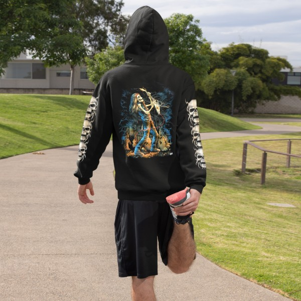 Wild Hoodie Zipper Jacke Skull Rocker Glow in the Dark