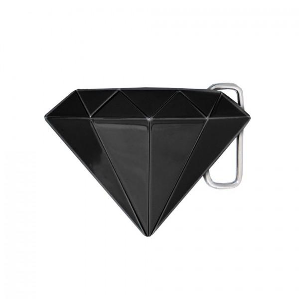 Schwarze 3D Diamant Gürtelschnalle