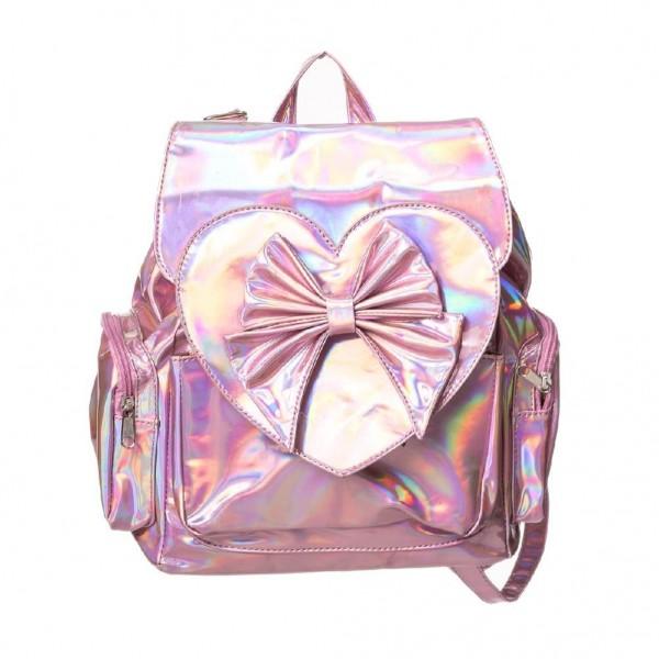 Banned Nyla Pink Vinyl Rucksack