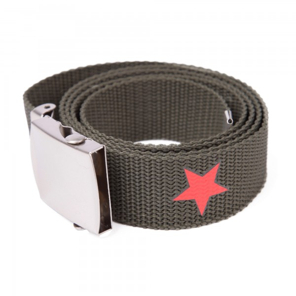 Camo Stoffgürtel mit Stern Aufdruck one size