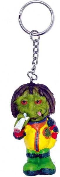 Stoned in Space Polyresine Alien Schlüsselanhänger