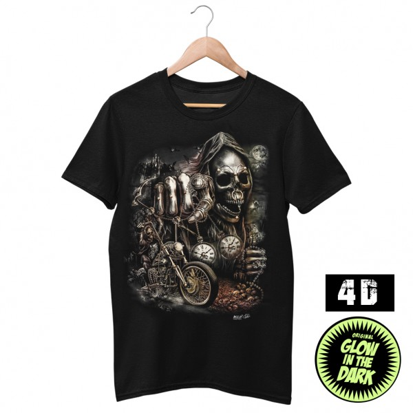 Wild 4D Der Letzte Ausflug Sensemann Biker T-Shirt