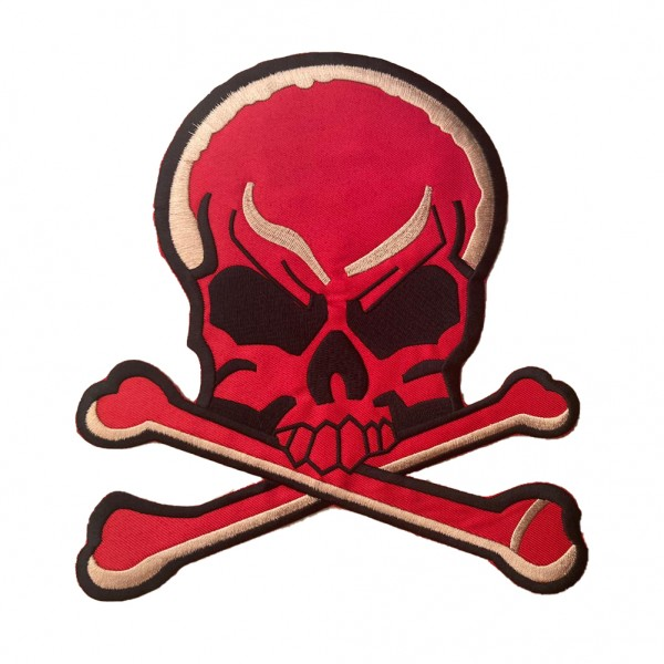 Roter Totenkopf Patch