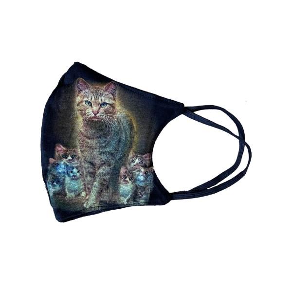 Katzen Glow in the Dark Stoffmaske