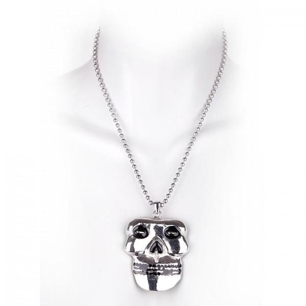 Metallkette mit Anhänger - Misfit Skull