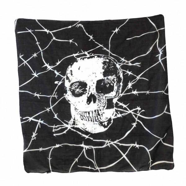 Black Sinner Stacheldraht Totenkopf Baumwolltuch