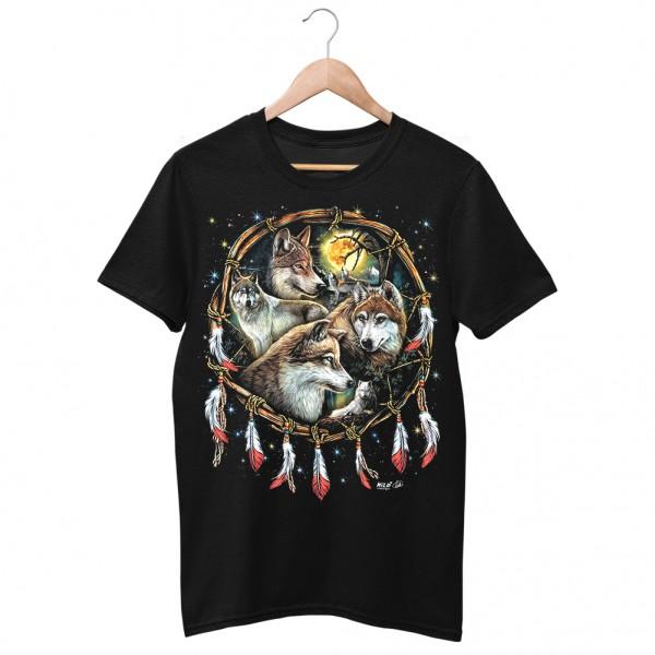 Wild Wolfsrudel Indianer T-Shirt