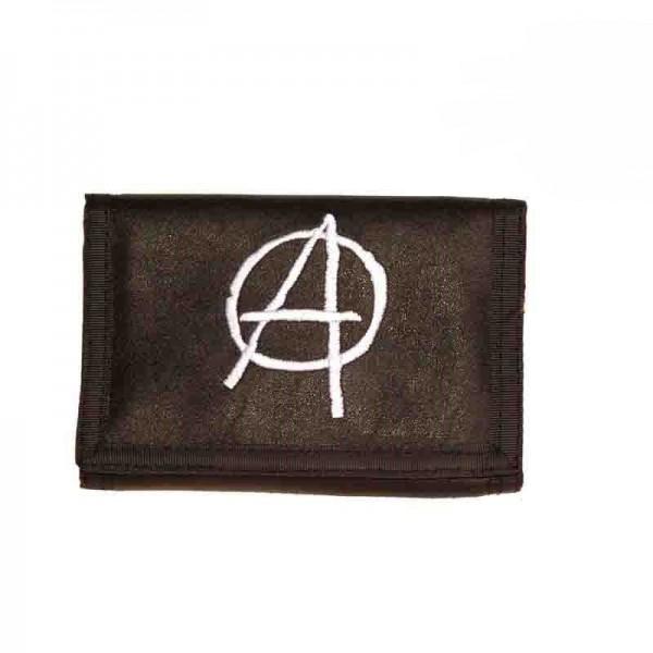 Geldbörse mit Anarchy Stickerei inklusive Kette