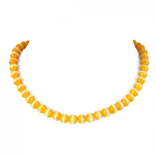 Gelbe Fluoreszierende künstliche Perlenhalskette
