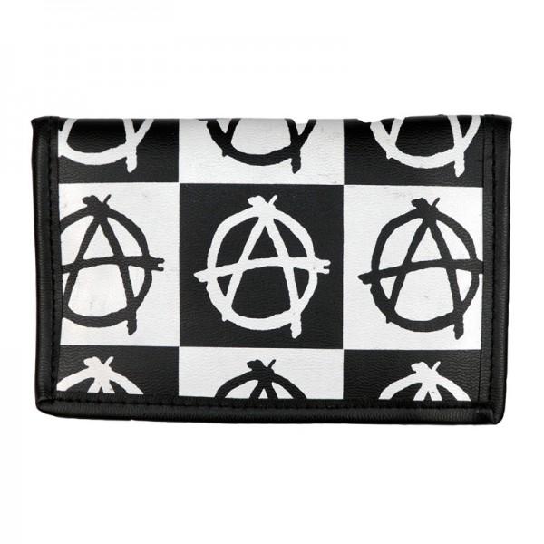 Anarchy Design Print Geldbörse im Karo Design