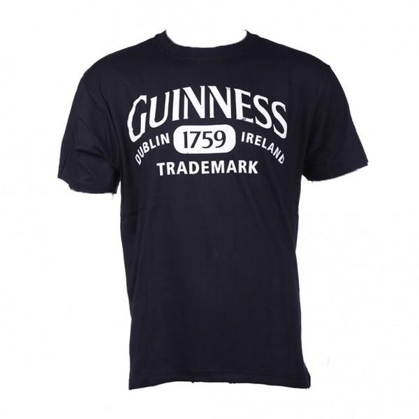 Motiv Shirt Schwarz Guinness Logo