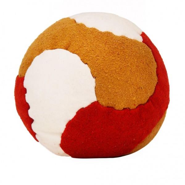Leder Jonglierball Kickball Strukturiert