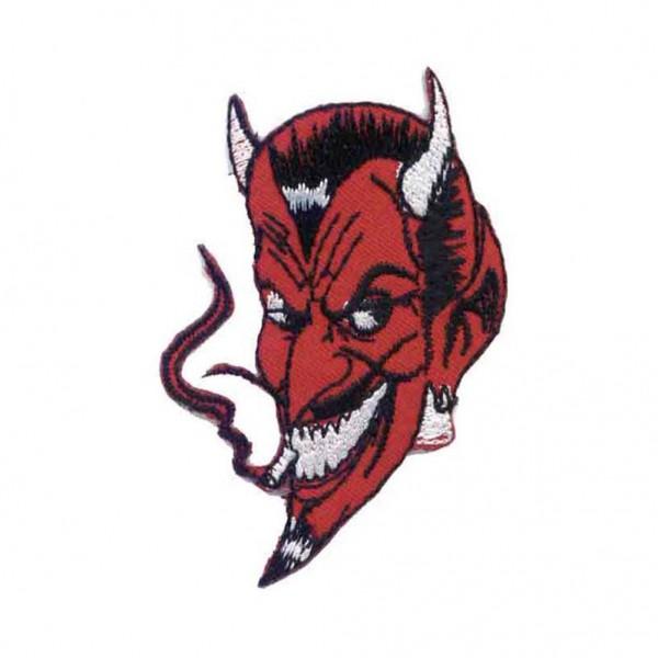 Roter Rauchender Teufel Patch
