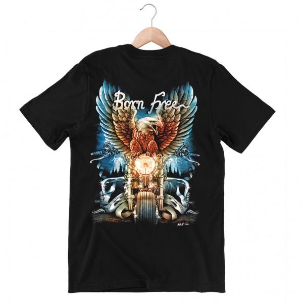 Wild Born Free Biker T-Shirt