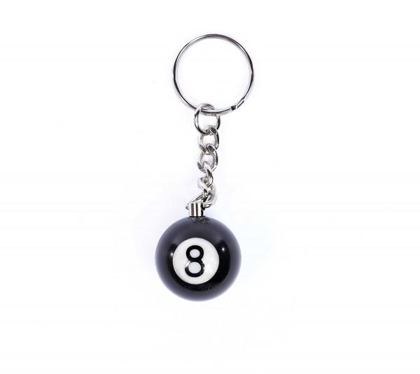 Billiardkugel 8 Schlüsselanhänger Groß